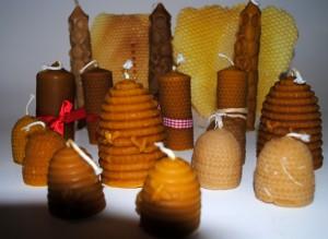Bougie cire d'abeille, coffret cadeau apiculteur